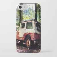 jeep iPhone & iPod Cases featuring Old Jeep by FPSTUDIO