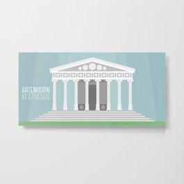 World Wonder: Temple of Artemis at Ephesus Metal Print