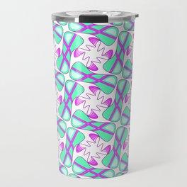 Cool Mint Kiss Bubble Gum Pink Simple Abstract Mint Candy Spirit Organic Travel Mug