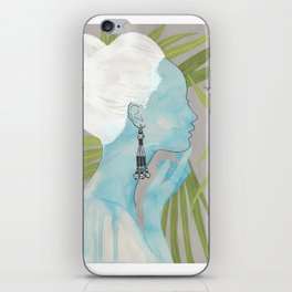 girls with silver jewelry / palmiye II iPhone Skin