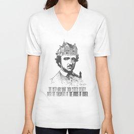 Edgar Allan Poe Design Unisex V-Neck