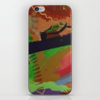 pain iPhone & iPod Skins featuring Pain by ErikMcManusInc.