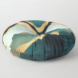 Velvet Copper Mountains Floor Pillow