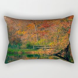 Fall At Oak Creek Pond Rectangular Pillow