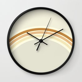 one day – earthen clay layers Wall Clock