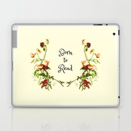 Born To Read Floral Aesthetic Laptop & iPad Skin