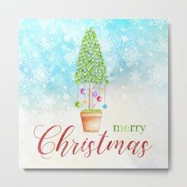 Merry Christmas tree #3 Metal Print