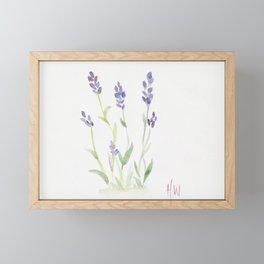 lavender watercolor Framed Mini Art Print