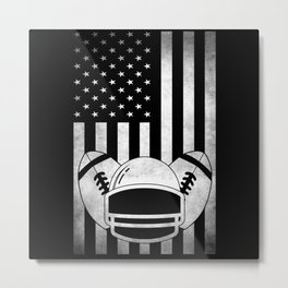 USA American Flag Football Fans Gift Metal Print