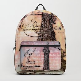 Eiffel tower collage Backpack
