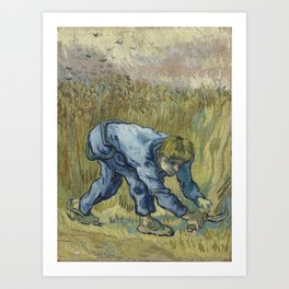 The Reaper (after Millet) Art Print