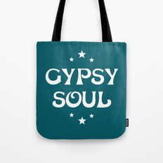 Gypsy Soul Mystical Stars Teal Tote Bag