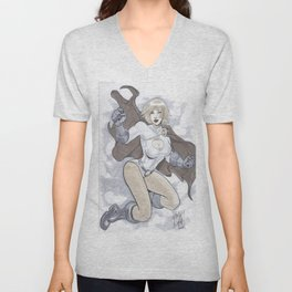 Powergirl  Unisex V-Neck