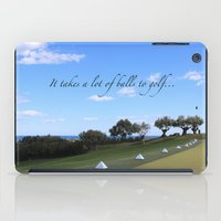 golf iPad Cases featuring Golf by Rebecca Bear