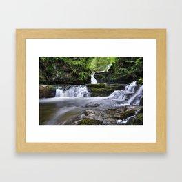 Four falls walk waterfall 4 Framed Art Print