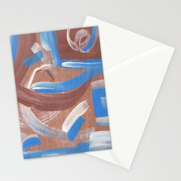 Falling Water Abstract Stationery Cards