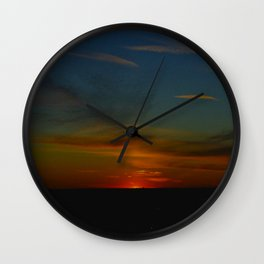 Prairie Sunset #1 (Chicago Sunrise/Sunset Collection) Wall Clock