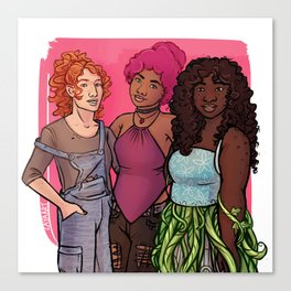 Danae, Evelyn & Rose Canvas Print