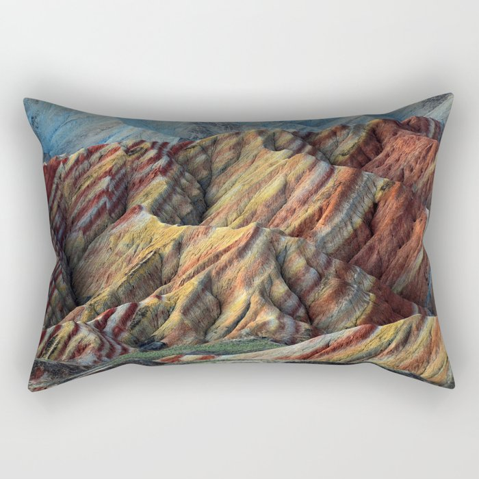 Rainbow Mountains Rectangular Pillow