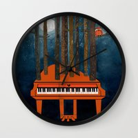 beethoven Wall Clocks featuring Moonlight Sonata - Beethoven by Prelude Posters