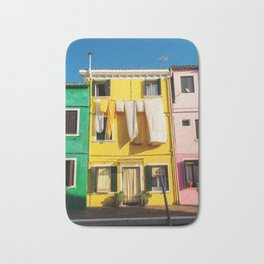Beautiful Burano Italy Bath Mat