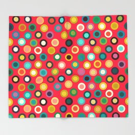 red pop spot Throw Blanket