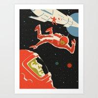 Cosmonauts Art Print