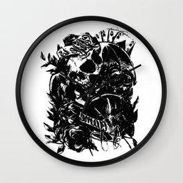 Skull collage,custom gift design Wall Clock