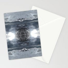 Lake Michigan - Frozen Beach - Northern Michigan - Up North - frozen waves - Frankfort Stationery Cards
