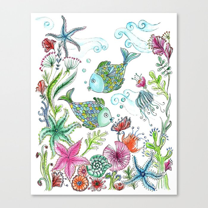 2 fishes Canvas Print