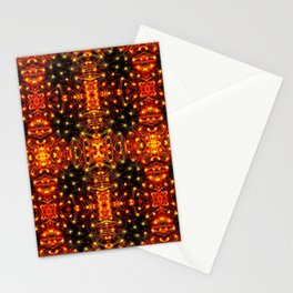 Red Yellow Sparkling Pattern Stationery Cards
