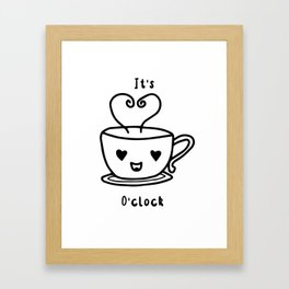 "Coffee Artwork, ""It's Coffee O'clock""// Insomnia Designs Framed Art Print"