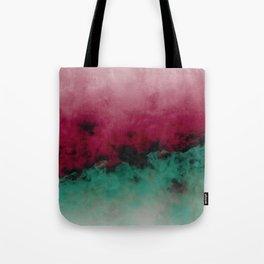 Zero Visibility Poinsettia Ombre Tote Bag