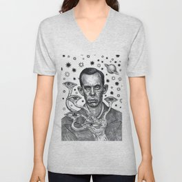 Dorf The Intergalactic Inquisitor from Planet X Unisex V-Neck