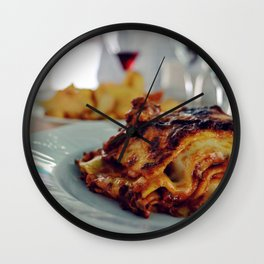 Lasagna from Italy Wall Clock