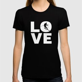 Love Skiing Gift For Skiers T-shirt