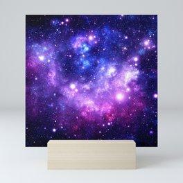 Purple Blue Galaxy Nebula Mini Art Print