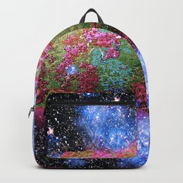Trees Starry Night Lake Backpack