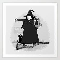 Witch Hiker Art Print