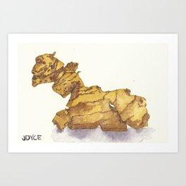 Ginger Mandrake Root Art Print