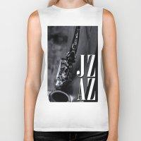 jazz Biker Tanks featuring Jazz by MaNia Creations