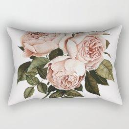 Three English Roses Rectangular Pillow