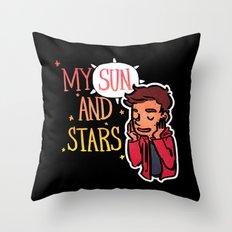 My Sun and Stars Throw Pillow