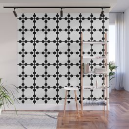 Droplets Pattern - White & Black Wall Mural