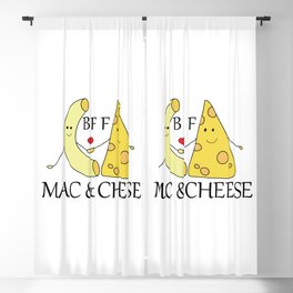 Mac & Cheese Best Friends Forever Blackout Curtain