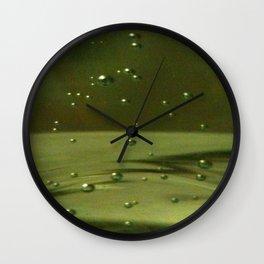 Khaki Bubbles Wall Clock