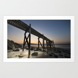 The old Peir at Holywood Art Print
