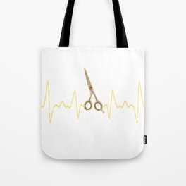 Hairstylist Heartbeat Tote Bag