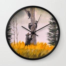 Bears In The Blue Ridge Mountains Wall Clock