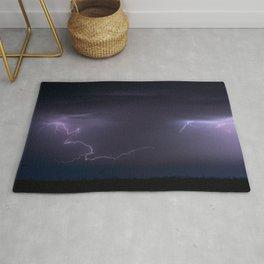 Summer Lightning Storm On The Prairie IV - Nature Landscape Rug